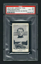 PSA 4 1912 C61 LaCROSSE CARD #3 FRED ROWNTREE