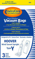 Hoover Y MIcro Lined Vacuum bags Wind Tunnel, Tempo