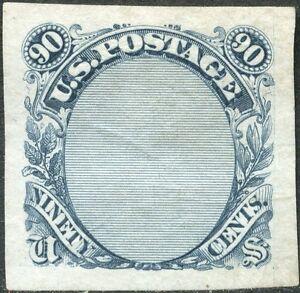 #122-E3 90¢ 1869 FRAME ESSAY, SUPERB GEM DARK NAVY BLUE  BP3553