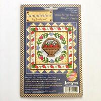 Simplicities by Janlynn Strawberry Basket Cross Stitch Kit Printed Mat Summer