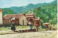 Chichicastenango Guatemala Pottery Seller Going to Market Postcard c1960