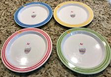 Pottery Barn Kids Set of 4 Melamine Easter Bunny, Rabbit Egg Plates
