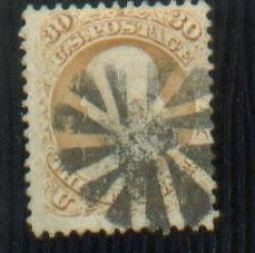 Scott 71 30c Franklin  1861 Used