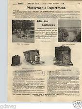 1900 PAPER AD Chelsea Camera Folding Lenox Cartridge Film Magazine