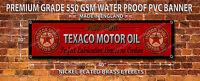 TEXACO MOTOR OIL WATERPROOF 550GSM GRADE PVC BANNER.GARAGE,WORKSHOP.