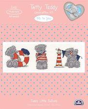 Me to You Three Little Sailors Cross Stitch Kit DMC - Tatty Teddy Bear