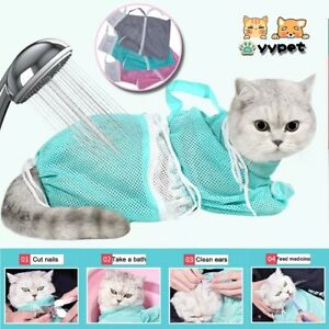 Mash Cat Grooming Bag Polyester Wash Bag Cat Accessories Pet Products Cleaning c