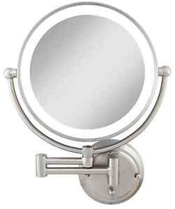 Zadro 1X/5X Magnification Hard Wire Glamour Wall Mount Lighted Makeup Mirror