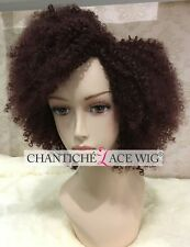 Short Curly Wigs Burgundy Synthetic Wigs Short Wine Red Synthetic Hair Full Wigs