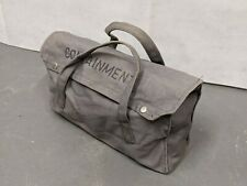 More details for british army - military - mod - vintage canvas tool bag satchel - land rover