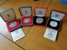 More details for 4 qe2 sterling silver proof coins. boxed.