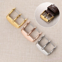 12~22mm Sliver Rose Gold Stainless Polish Buckle For Watch Band Strap Pin Clasp