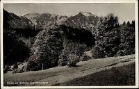 Tegernseer Berge Bayern Tegernsee AK ~1935 Partie am Aufstieg zum Hirschberg