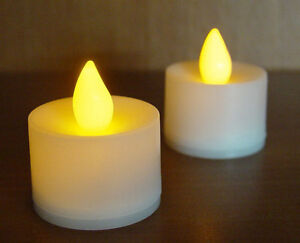 24 LED battery flickering safe flameless Candle wedding decoration amber flame