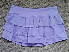 LULULEMON lilac purple Nothing To Hide Mini Skirt ruffle skort size 4 **RARE**