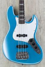 G&L Tribute JB 4-String Electric Bass, Brazilian Cherry Board - Lake Placid Blue