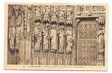 strasbourg ,  statues gauches du portail central de la cathédrale