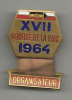 Orig.part.pin  XVII.Course de la Paix / Peace Race 1964  -  ORGANIZER  !! RARITY