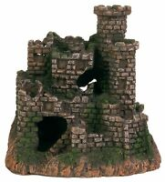 Castle Fish Cave Decoration Ornament Fort Ruin for Aquarium Fish Tank