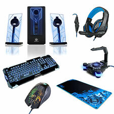 ENHANCE PC Bundle - Speakers, Keyboard and Mouse, Mouse Pad, Headset and Bungee