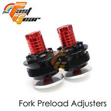 Red CNC Preload Adjusters Fit Yamaha MT-07 FZ-07 14-18