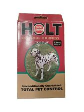 """Vtg Made in Usa Top Paw Holt Harness Control for Total Pet Control size L 26"""""""