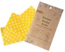 Bienenwachstücher, 3er Set, wiederverwendbares Baumwolltuch, bee wax wrap