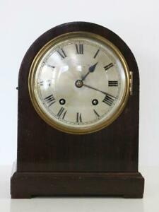 1/4 CHIMING MANTEL CLOCK by W&H GERMANY mahogany case TING-TANG serviced June