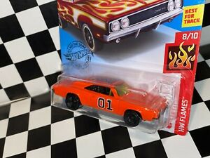 "Hot Wheels 1969 Dodge Charger 500 - ""GENERAL LEE - DUKES OF HAZZARD"" custom"