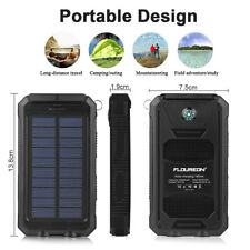Floureon Power Bank 10000mAh Batería externa Pack Cargador solar 2LED Ligero ES