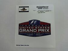 2005 Formula-1 United States Grand Prix  Event Collector Decal