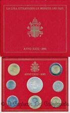 2001 Vaticano Serie divisionale FDC Papa Giovanni Paolo II 1000 Lire argento