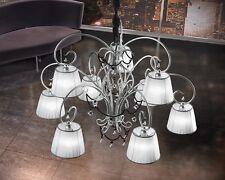 Lampadario classico di design argento con paralumi BELL venezia 1801/L9L