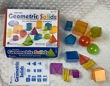 Learning Resources View-Thru Geometric Solids 14 Pieces Math Homeschool Geometry