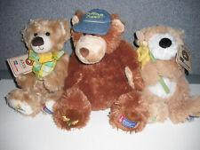 3 Boyds Bears American Cancer Society Daffodil Days Plush Teddy Bears W/Tags