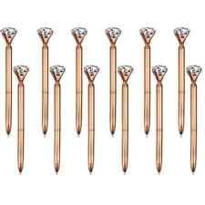 Big Crystal Diamond Rose Gold Ballpoint Pen Black Ink