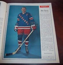 Bob Nevin Weekend Magazine with 2 inserts Bobby Hull ,Henri Richard, + more