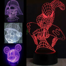 3D LED illusion Batman 7Color table Night Light Lamp Bedroom Child Xmas gift