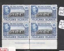 Falkland Islands SG 151 Imprint Block of 4, Some Split Perfs MNH (5dmu)