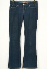 Paige Jeans 26 Laurel Canyon Blue Premium Denim Cotton Womens Bootcut Dark Wash