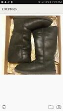 shimmery tall black uggs size 8