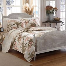 Tommy Bahama Home Reversible Quilt Bonny Cove, Plaid Twin/Twin X-Long, New
