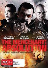 The Mercenary - Absolution*DVD,2015*R4*Steven Seagal*Vinnie Jones*Terrific Cond