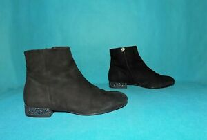 Boots Booties Mellow Yellow Leather Velvet Black Size 36 Fr