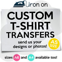 Custom Iron On T-Shirt Transfer A5 Your Image Photo Design Personalised Hen Stag