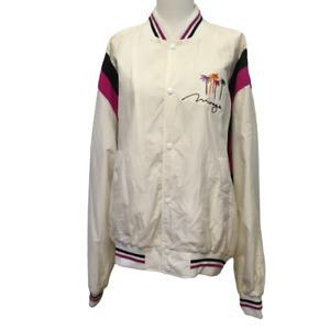 Vintage The Rematch Tyson vs Ruddock Fight Night Jacket 1991 White Pink Size L