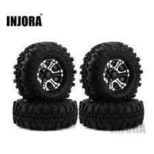 4Pcs RC 1.9 Rock Crawler Tire Rubber 120mm & 1.9 Alu Beadlock Rim Wheel w/ Foam