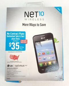 NET 10 WIRELESS LG optimus FUEL phone NEW SEALED