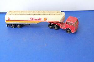 MAJORETTE ancienne camion semi-remorque citerne 1/100  SHELL