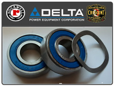Delta Rockwell Unisaw Arbor Bearing Rebuild Kit With Load Spring Washer